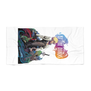 By The Horns (Issue One Design) - Black Beach Towel