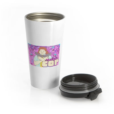 Mullet Cop (Fred Design) - Stainless Steel Travel Mug