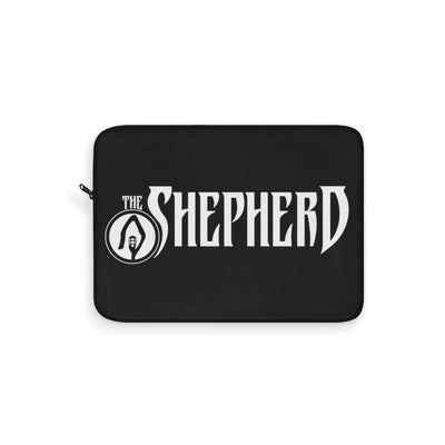 The Shepherd (Logo Design) - Black Laptop Sleeve
