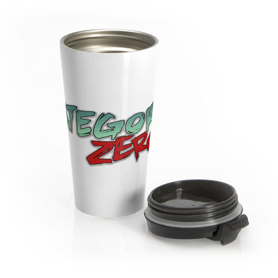 Category Zero (Logo Design) - Stainless Steel Travel Mug