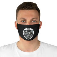 Frank At Home On The Farm (Design One) - Black Fabric Face Mask