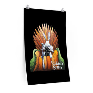 Stabbity Bunny (Carrot Throne Design) - Poster