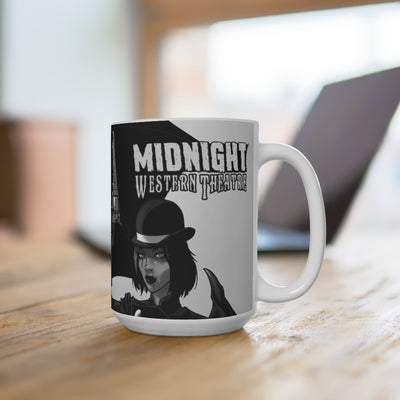 Midnight Western Theatre - White Coffee Mug 15oz