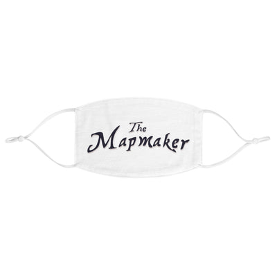 The Mapmaker (Design 1) - White Fabric Face Mask