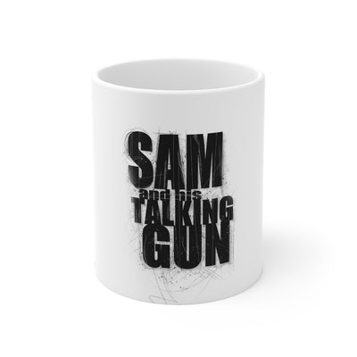 Sam And His Talking Gun (Gun Logo Design) - 11oz Coffee Mug