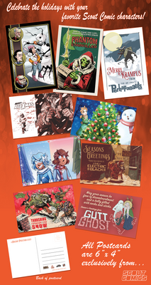 Scout Comics - Set of 9 Holiday Cards