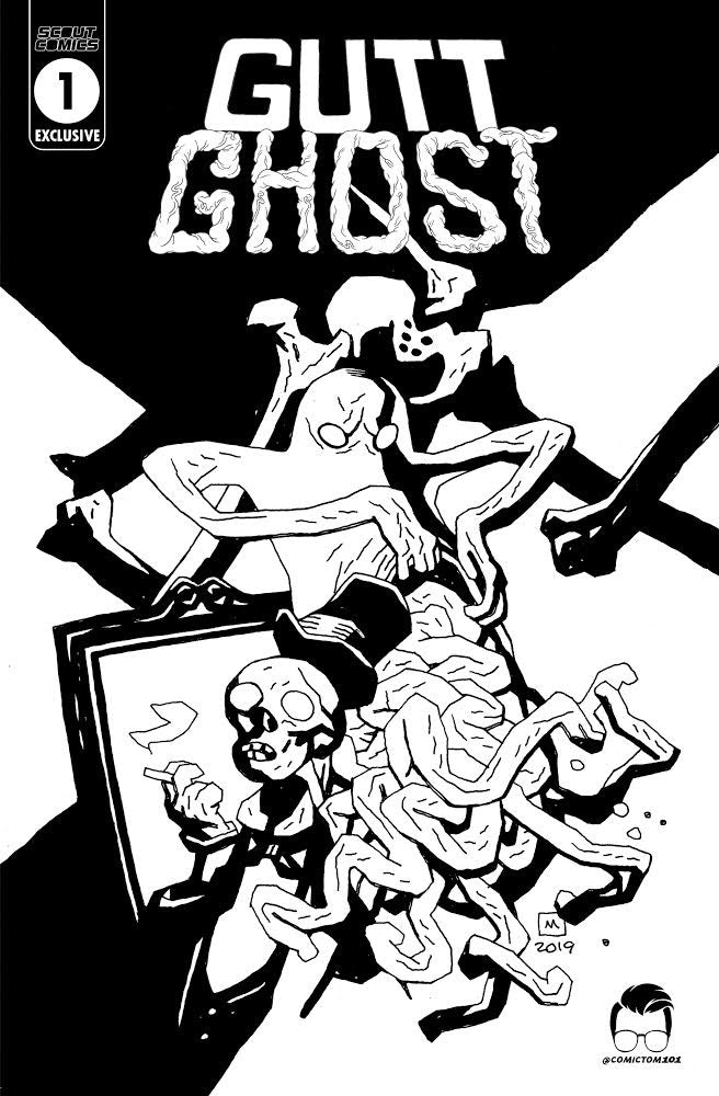 Gutt Ghost Trouble With The Sawbucket Skeleton Society #1 - Comic Tom Mill Geek Comics Variant