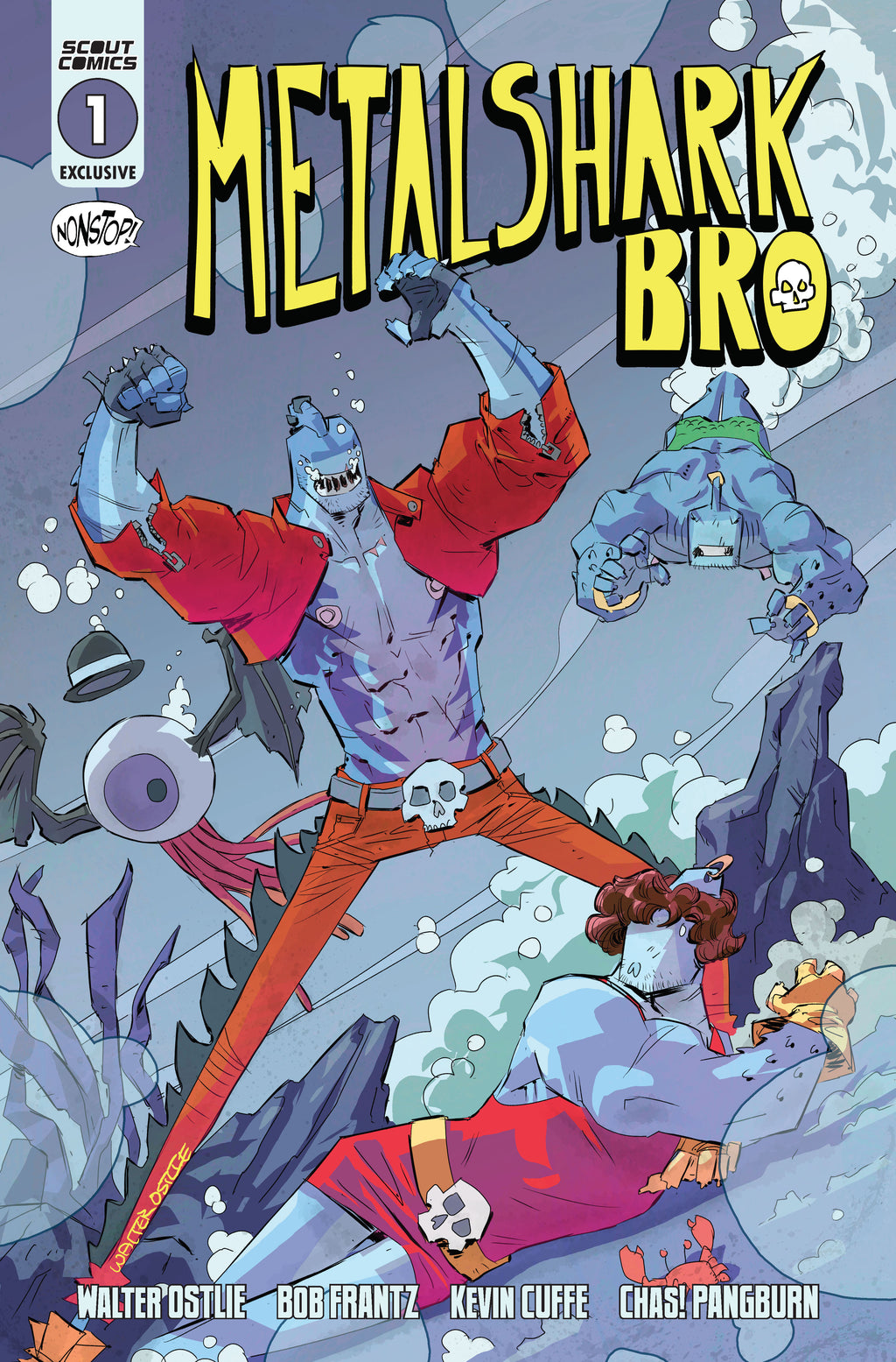 Metalshark Bro #1 - Comic Tom Namor Homage Cover