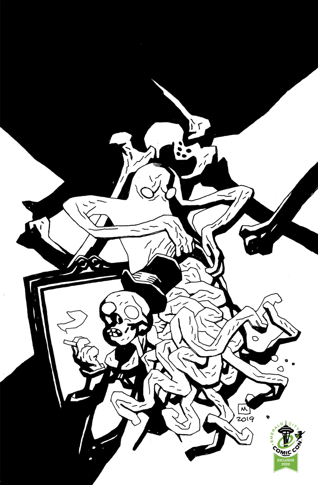 Gutt Ghost Trouble With The Sawbucket Skeleton Society #1 - ECCC Variant