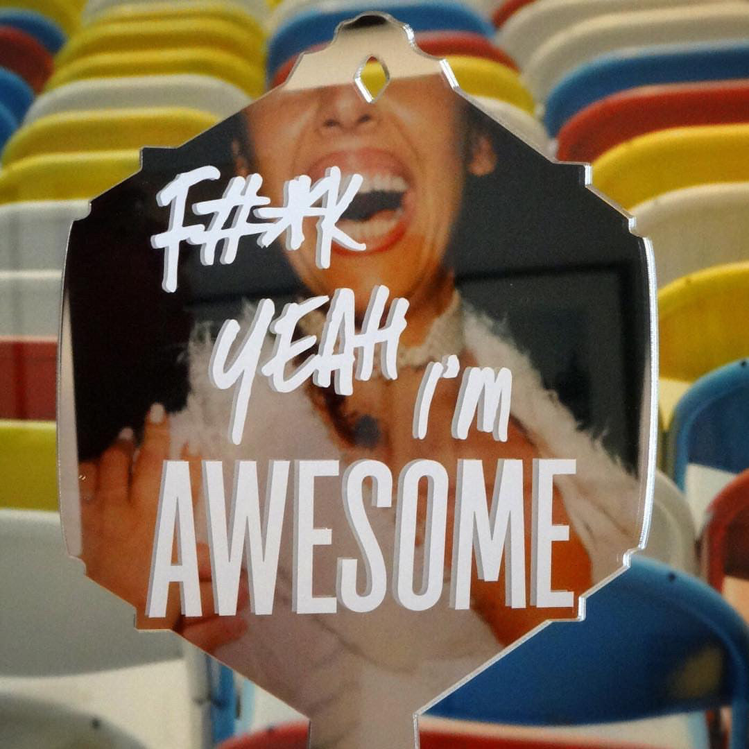 F#*k Yeah I'm AWESOME Vanity Mirror | Hand Mirror