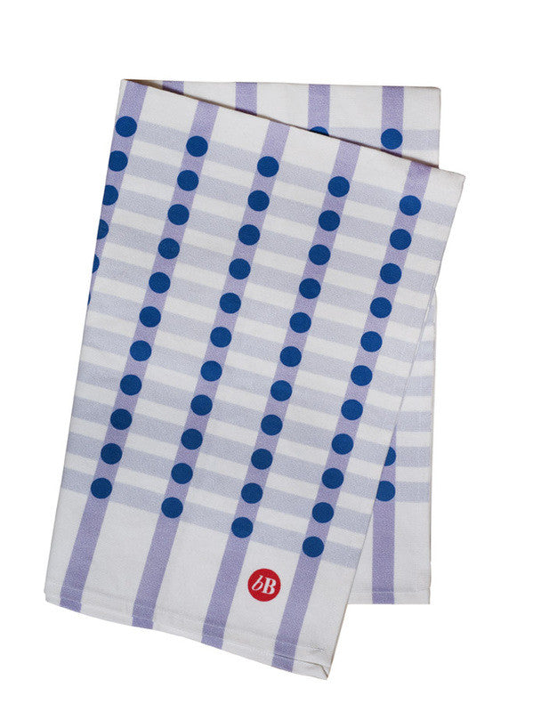 Gingham-Dot Kitchen Tea Towels | Set of 2 Hand Towels | BLUE