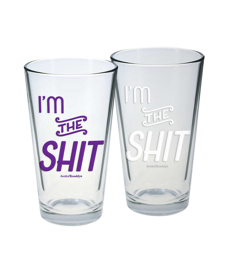 I'm the Shit Pint Glass
