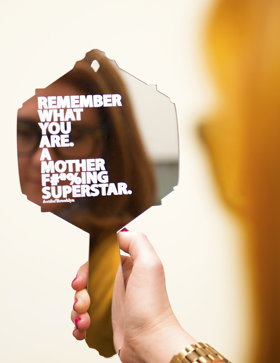 Remember What You Are. A Mother F#*%ing Superstar. Vanity Mirror | Hand Mirror