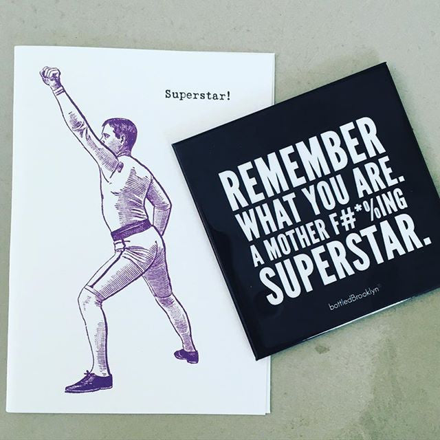 Remember What You Are. A Mother F#*%ing Superstar. Kitchen Refrigerator Magnet | BLACK