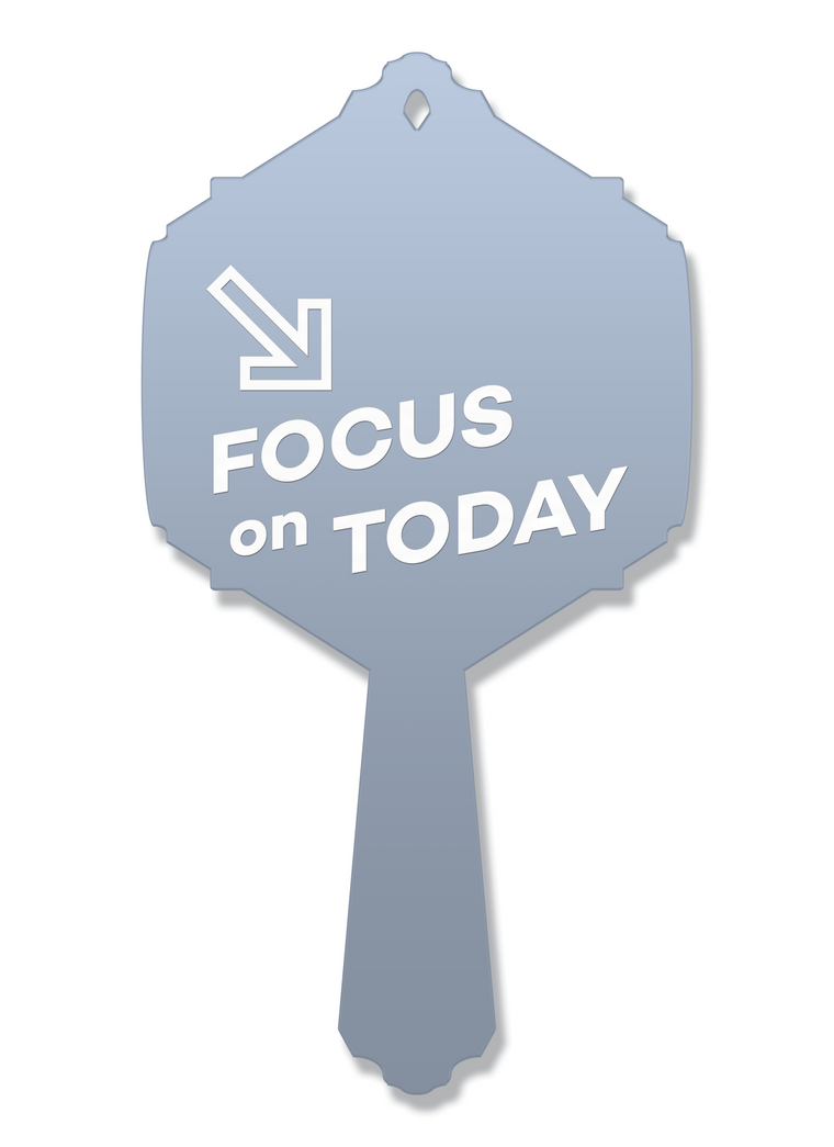 Focus on Today Vanity Mirror | Hand Mirror