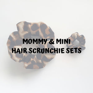 Mommy and mini hair scrunchie sets