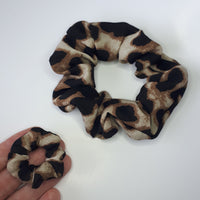 Mommy and Mini Set of 2 Leopard Print Hair Scrunchies