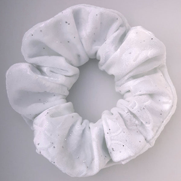 White Velvet Hair Scrunchie
