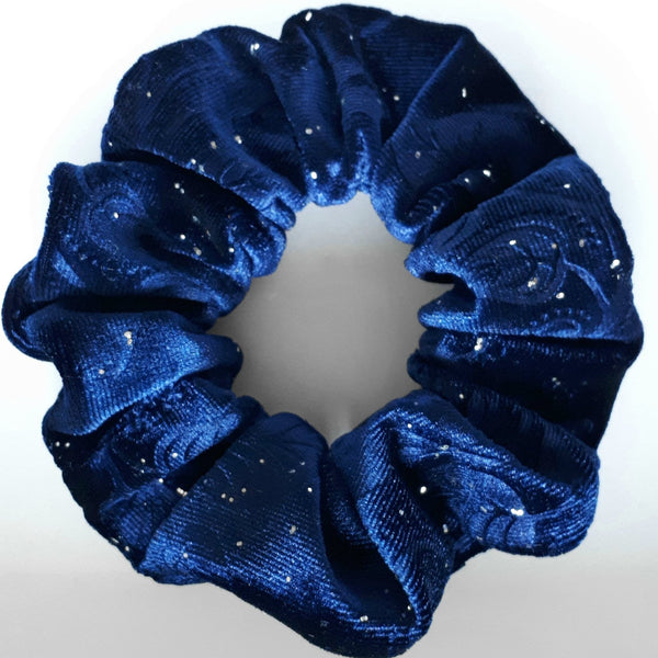 Blue Velvet Hair Scrunchie