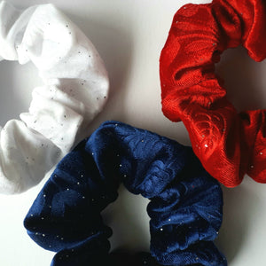 Velvet Hair Scrunchie Trio Set