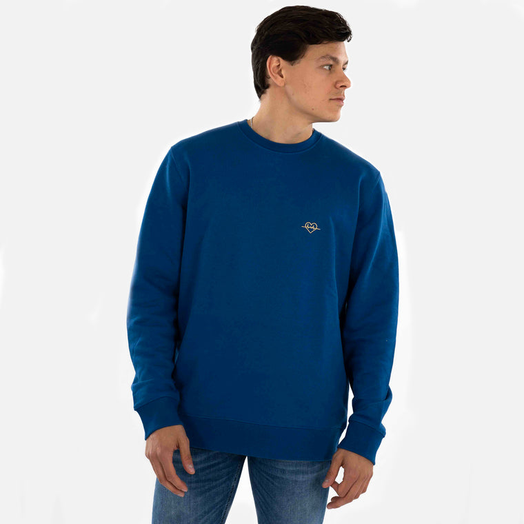 Beloved Crewneck Kobalt Blauw