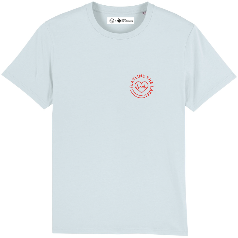 Flatline X Hartstichting T-Shirt Baby Blue