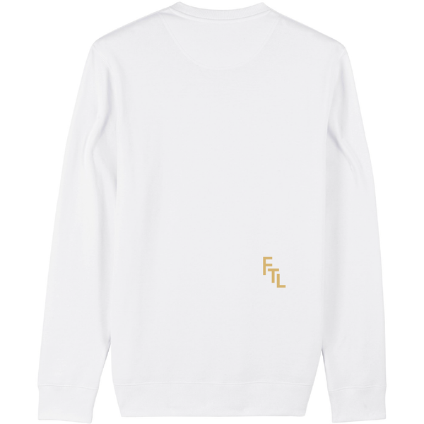 Flatline the label Sweatshirt wit