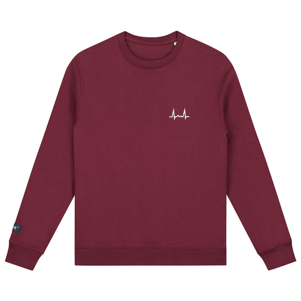 Flatline the Label Hartritme Crewneck Burgundy