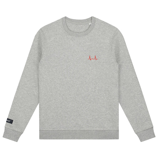 Flatline the Label Hartritme Crewneck Grey
