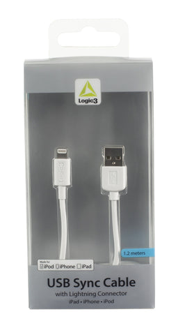 USB Sync/Charge Cable with Lightning Connector - White