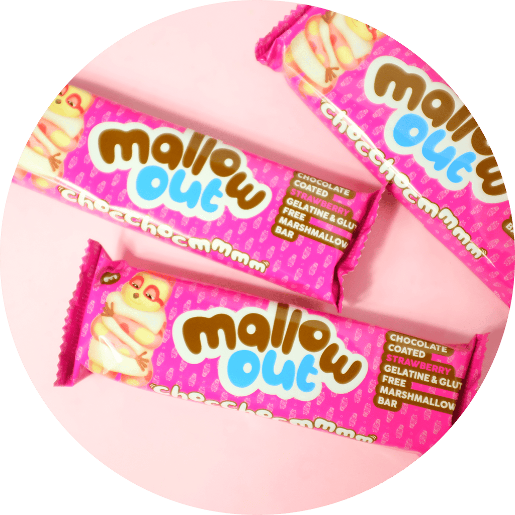 STRAWBERRY MALLOW OUT CHOC MARSHMALLOW BAR 40g