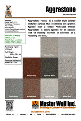 Aggre-stone Specialty Finish Standard Flat Sample Set