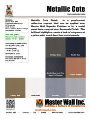 Metallic Cote Specialty Finish Standard Flat Sample