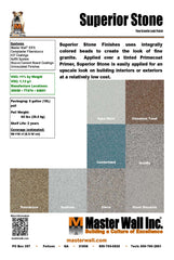 Superior Stone Specialty Finish Standard Flat Sample Set - Smooth Granite Look