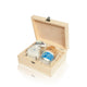Nin Solana beautiful wooden gift box with Feur De Sel, Organic Salt and Wooden Salt Keeper