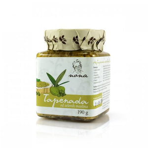 Aromatic Mediterranean spread based on green olives, with tuna, anchovy fillets, capers and Dalmatian herbs. Use as a spread for crackers, canapés, or bruschettas, or add to pasta sauces or meat marinades.Product of Croatia.