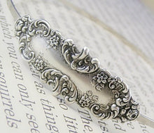 Load image into Gallery viewer, Victorian headband floral silver metal elegant antique style bridal wedding hair accessory hair band vintage