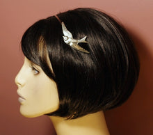 Load image into Gallery viewer, Bird headband swallow silver metal retro hair accessory sparrow