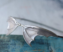 Load image into Gallery viewer, Bat wing headband silver vamp halloween vampire retro goth