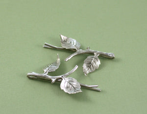 Leaf hair pins leaves bridal antique silver finish bobby pin twig wedding hair accessory set woodland rustic