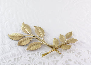 Leaf hair pins leaves bridal golden brass bobby pin wedding hair accessory branch hair slide set woodland rustic twig bridesmaid
