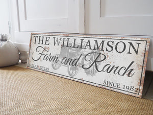 CUSTOM RUSTY WHITE FANCY SIGN (EXTRA WIDE)