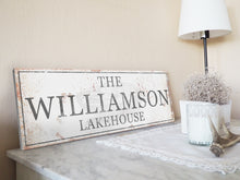 Load image into Gallery viewer, CUSTOM RUSTY WHITE CLASSIC SIGN (EXTRA WIDE)