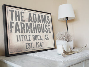 CUSTOM VINTAGE BOLD FAMILY SIGN