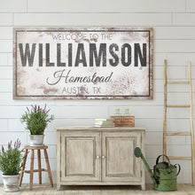 Load image into Gallery viewer, CUSTOM RUSTY WHITE BOLD AND FANCY SIGN (WIDE)