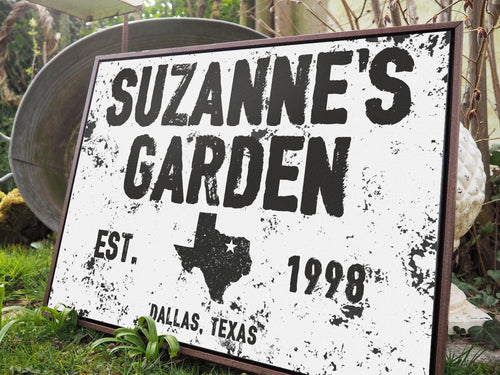 CUSTOM DISTRESSED NAME AND PLACE SIGN CUSTOM GIFT PRINTS DenverToDallas
