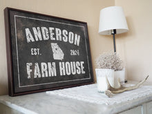 Load image into Gallery viewer, CUSTOM DISTRESSED VINTAGE FAMILY NAME SIGN CUSTOM GIFT PRINTS DenverToDallas