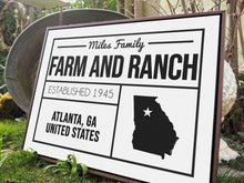Load image into Gallery viewer, CUSTOM FARMHOUSE FAMILY PLAIN WHITE SIGN CUSTOM GIFT PRINTS DenverToDallas
