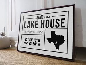 CUSTOM FARMHOUSE FAMILY PLAIN WHITE SIGN CUSTOM GIFT PRINTS DenverToDallas