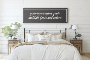 CUSTOM QUOTE SIGN (EXTRA WIDE) (MORE COLORS AVAILABLE) Denver to Dallas